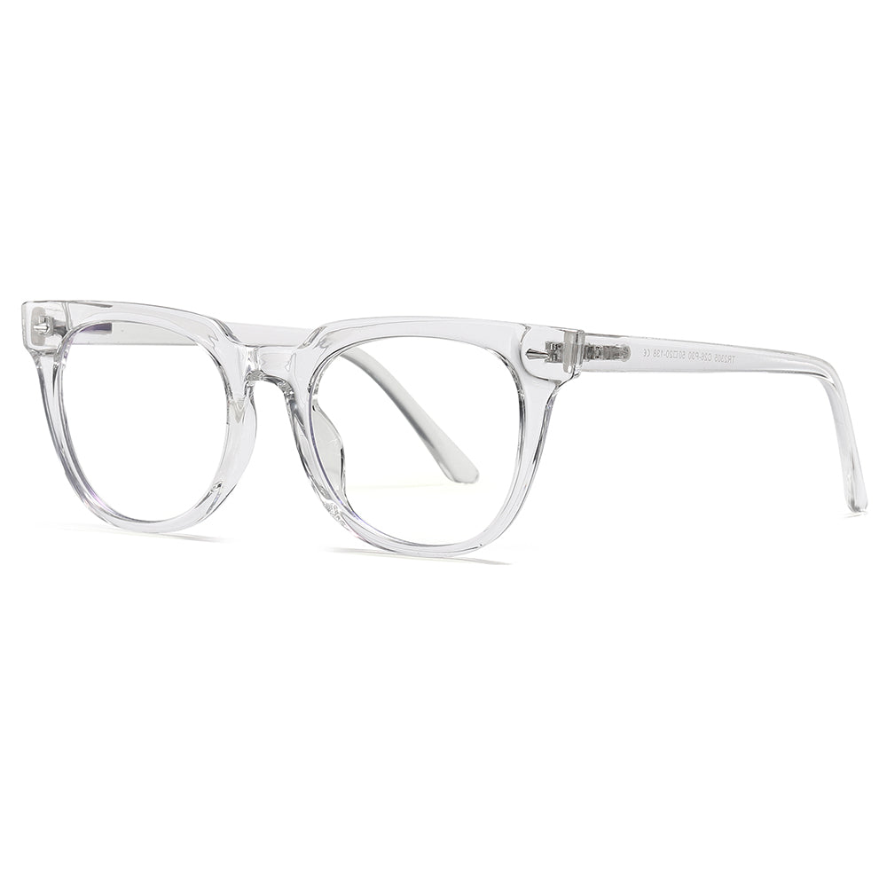 photochromic eyeglasses with clear transparent frames,round shape