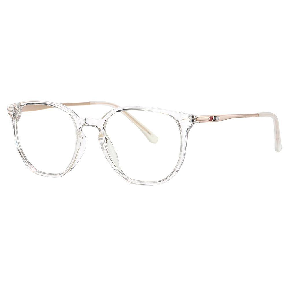 transparent frames with gold temples