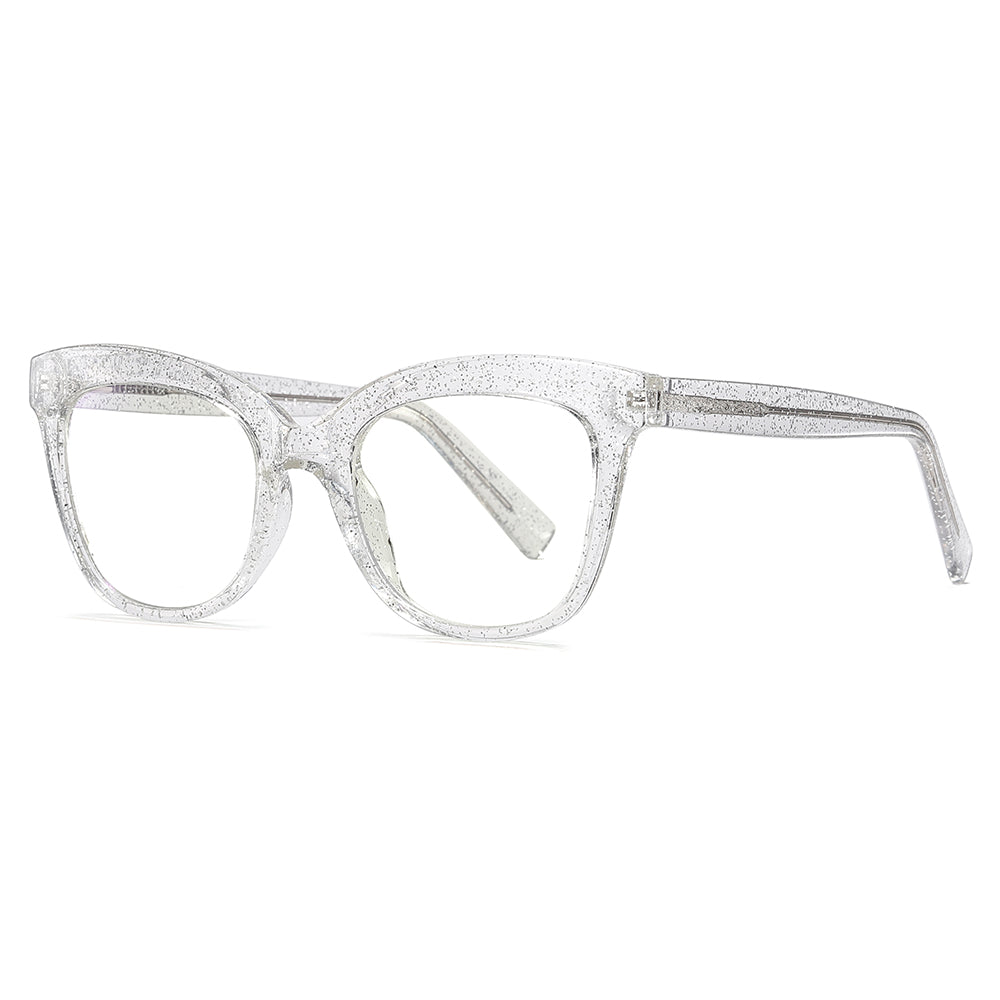 clear transparent square spectacles