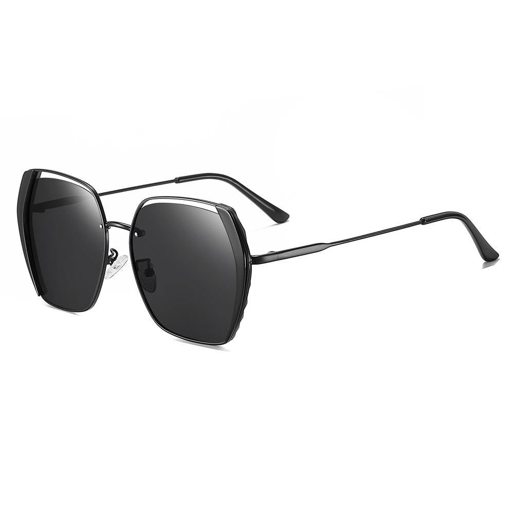 45 Angle View the Black Square Sunglasses