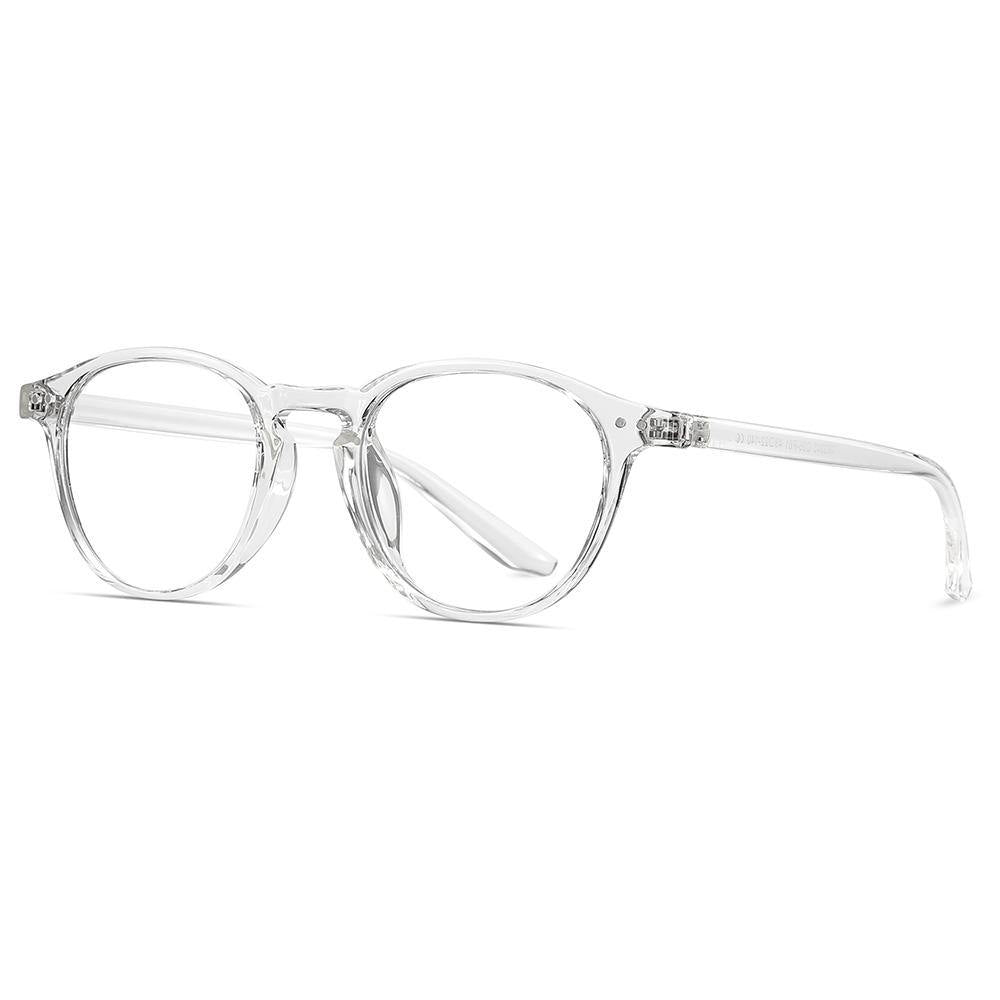 small round frame shape, clear transparent colors