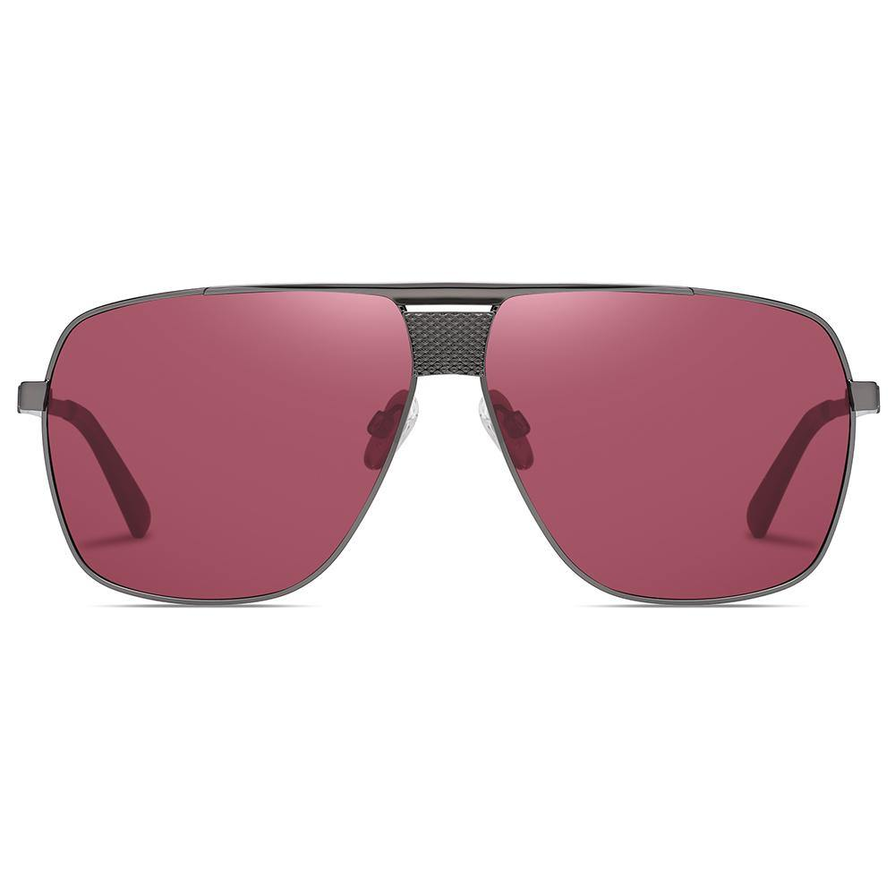 wine red Burgundy lens color in big square shape and flat top style