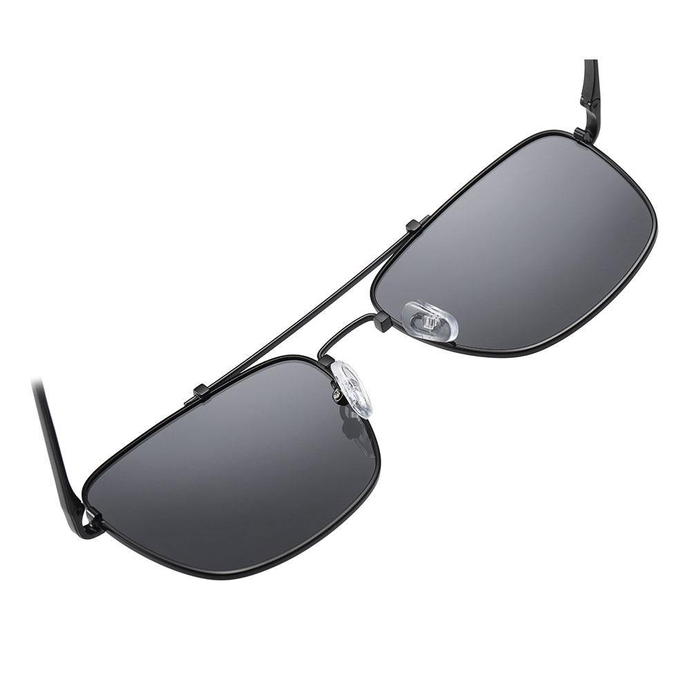 With adjustable nose pads, double bridge designed, rectangular sunglasses