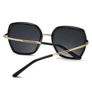 Black frames and gold temple arms black acetate ending tips
