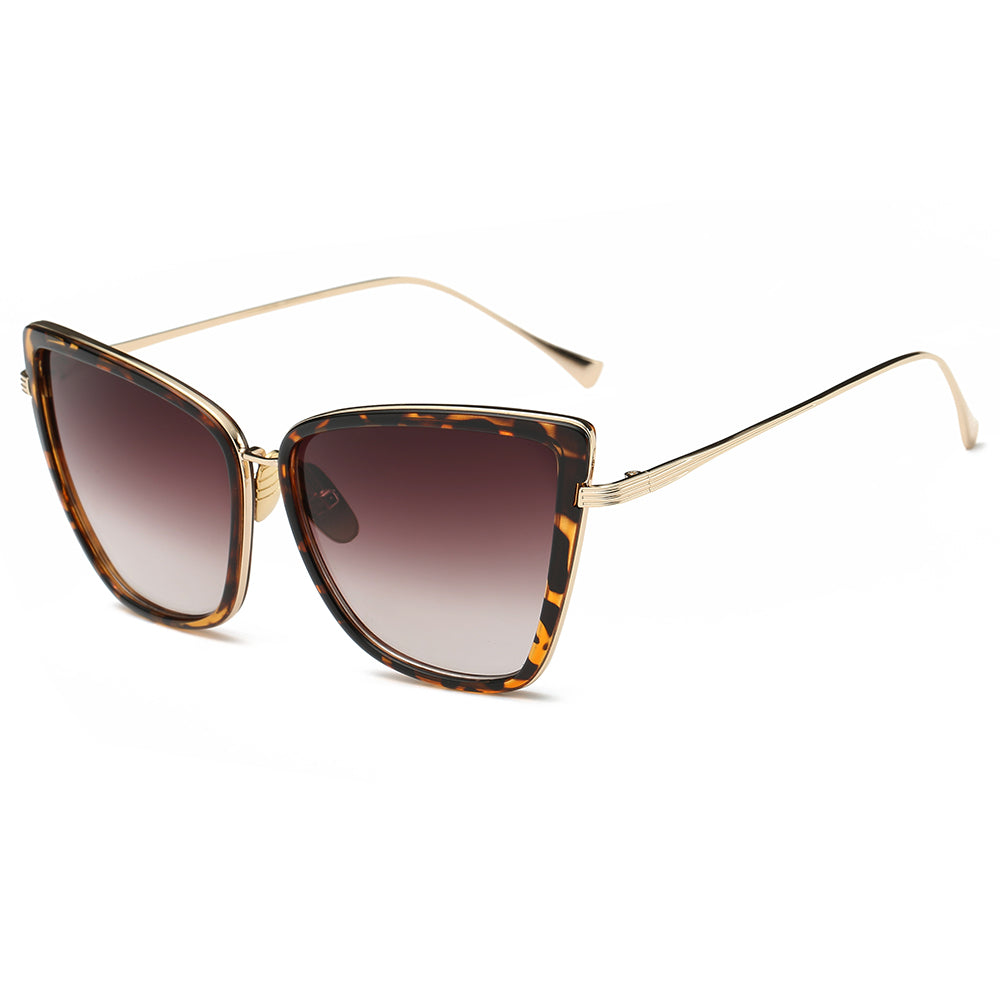 butterfly shaped torotise rimmed sunglasses with gold temples
