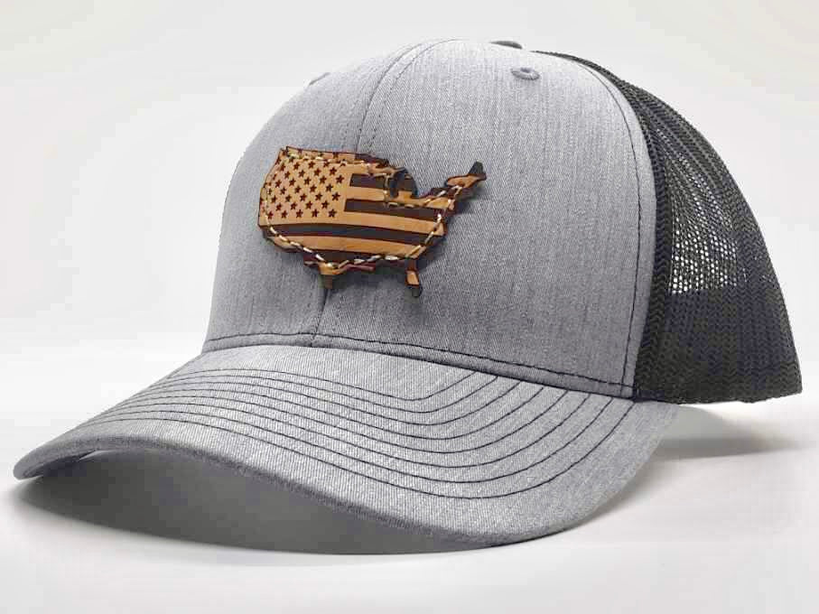 AMERICAN FLAG HAT HEATHER GRAY