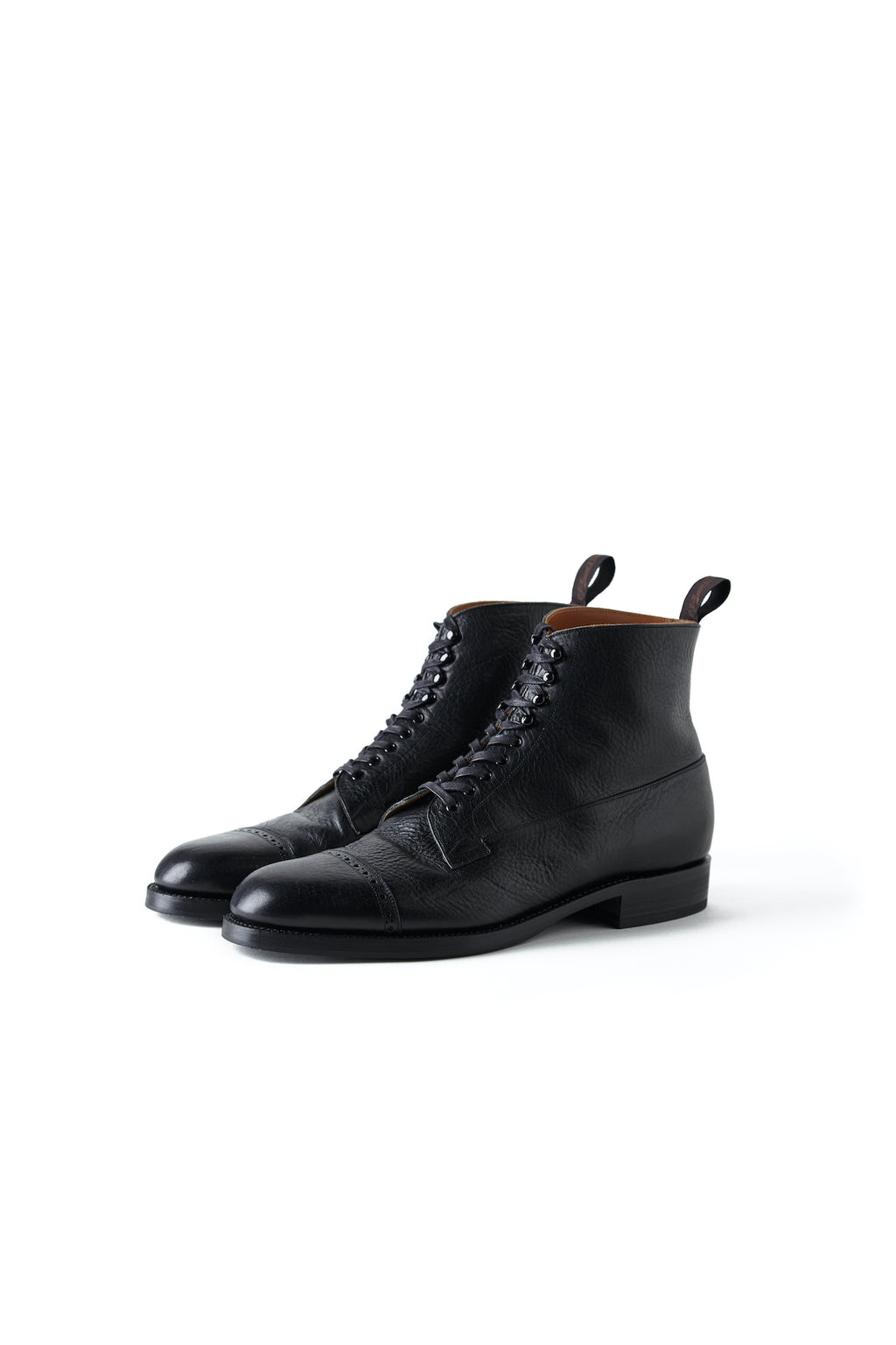 """The Trader"" VACHETTA LEATHER CAP TOE BOOTS - 192OJ-FW03"