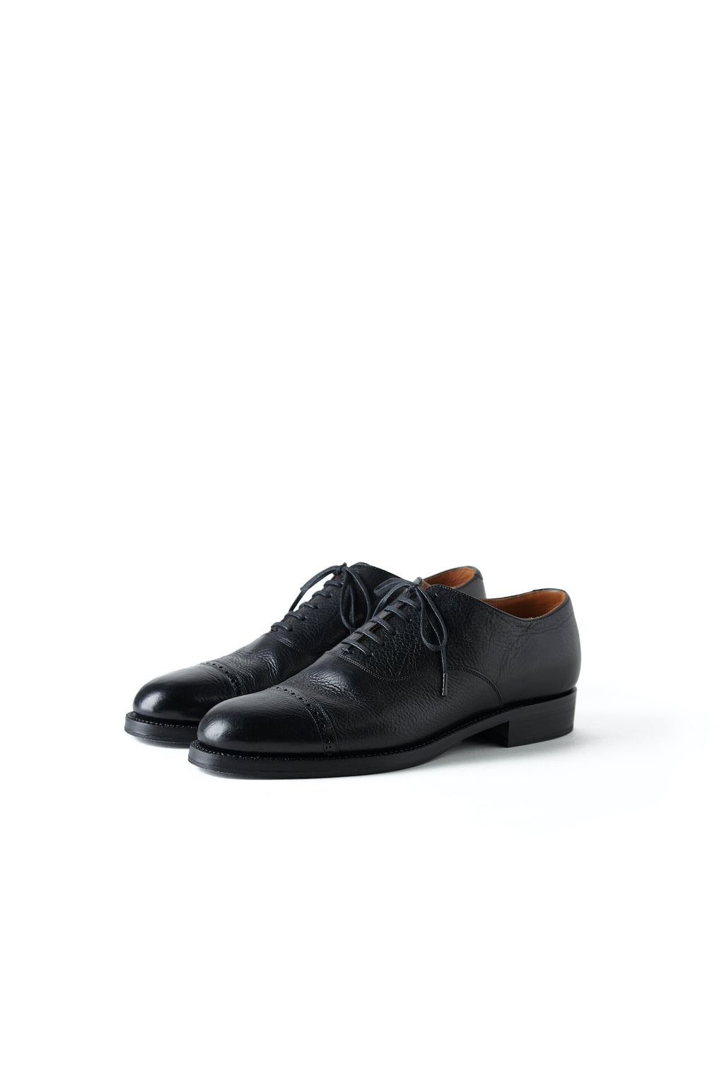 """The Banker"" VACHETTA LEATHER CAP TOE SHOES - 192OJ-FW04"