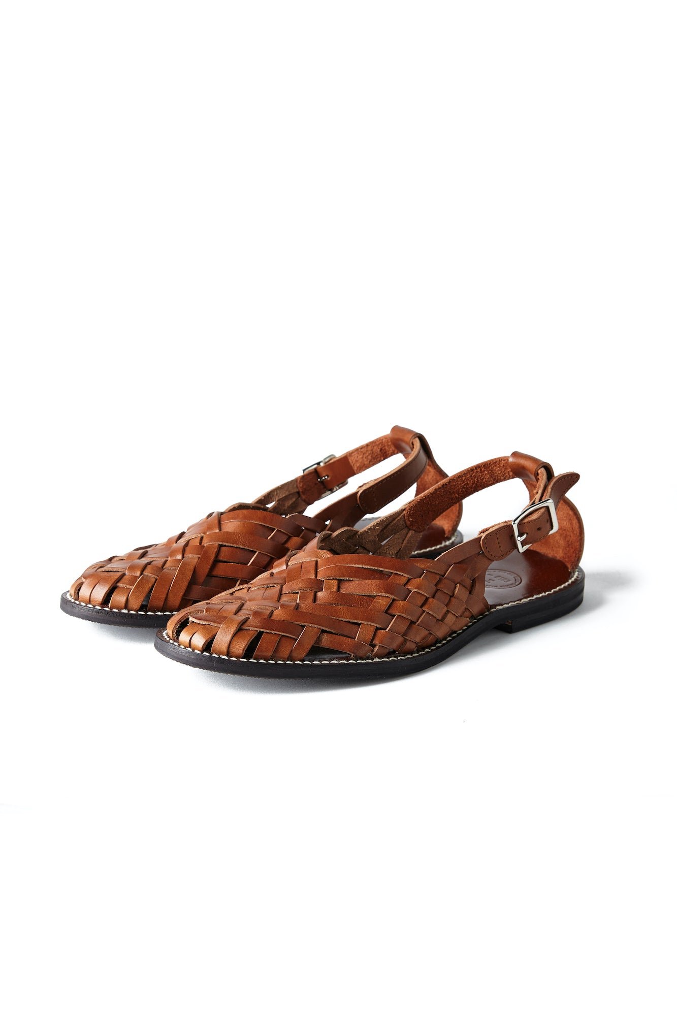 """The Sculptor"" ITALIAN LEATHER HURACHE SANDALS - 201OJ-FW04"