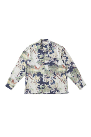 ORIGINAL PRINTED OPEN COLLAR SHIRTS (-ORIENTAL- long sleeve) - 201OJ-SH08
