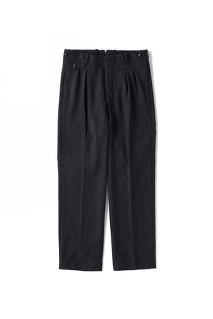 DOUBLE-PLEATED DRAPE TROUSER - 202OJ-PT02