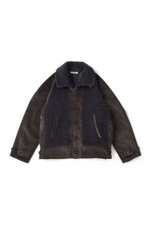 BUTTONED FRONT GRIZZLY JACKET - 202OJ-JK12