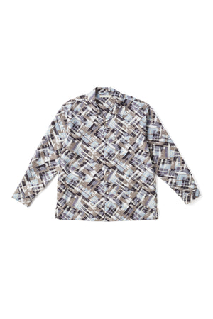 ORIGINAL PRINTED OPEN COLLAR SHIRTS (-ATOMIC- long sleeve) - 201OJ-SH04