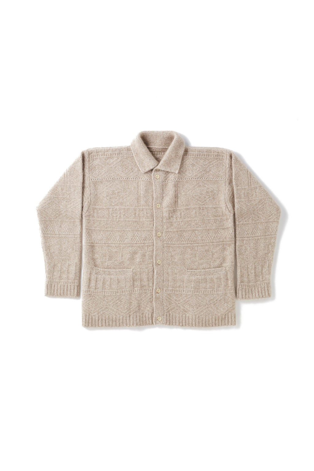 RACOON GUERNSEY BUTTONED SWEATER - 202OJ-KN06