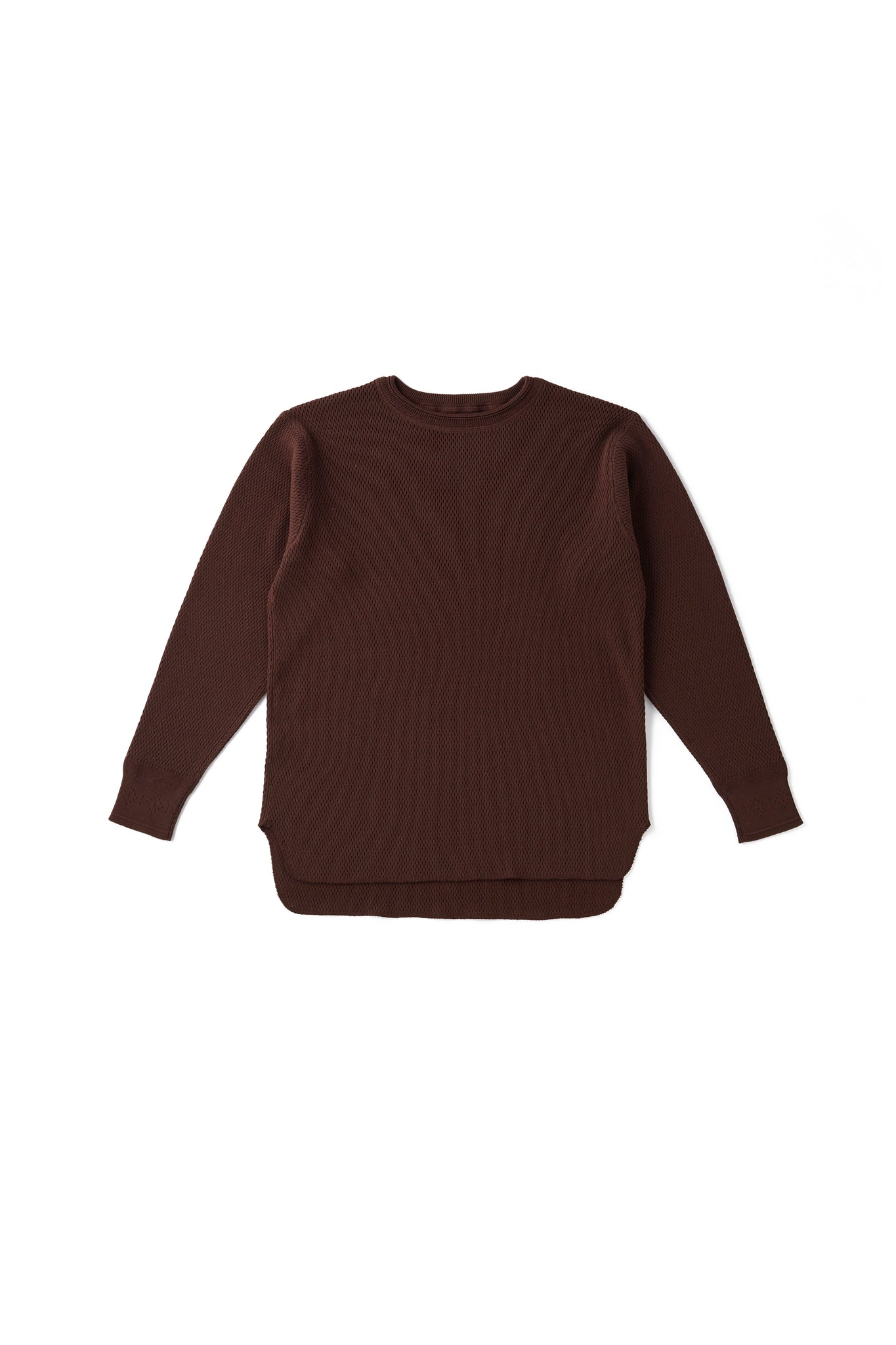 HARD TWIST HONEYCOMB WUFFLE CREW-NECK - 202OJ-KN07