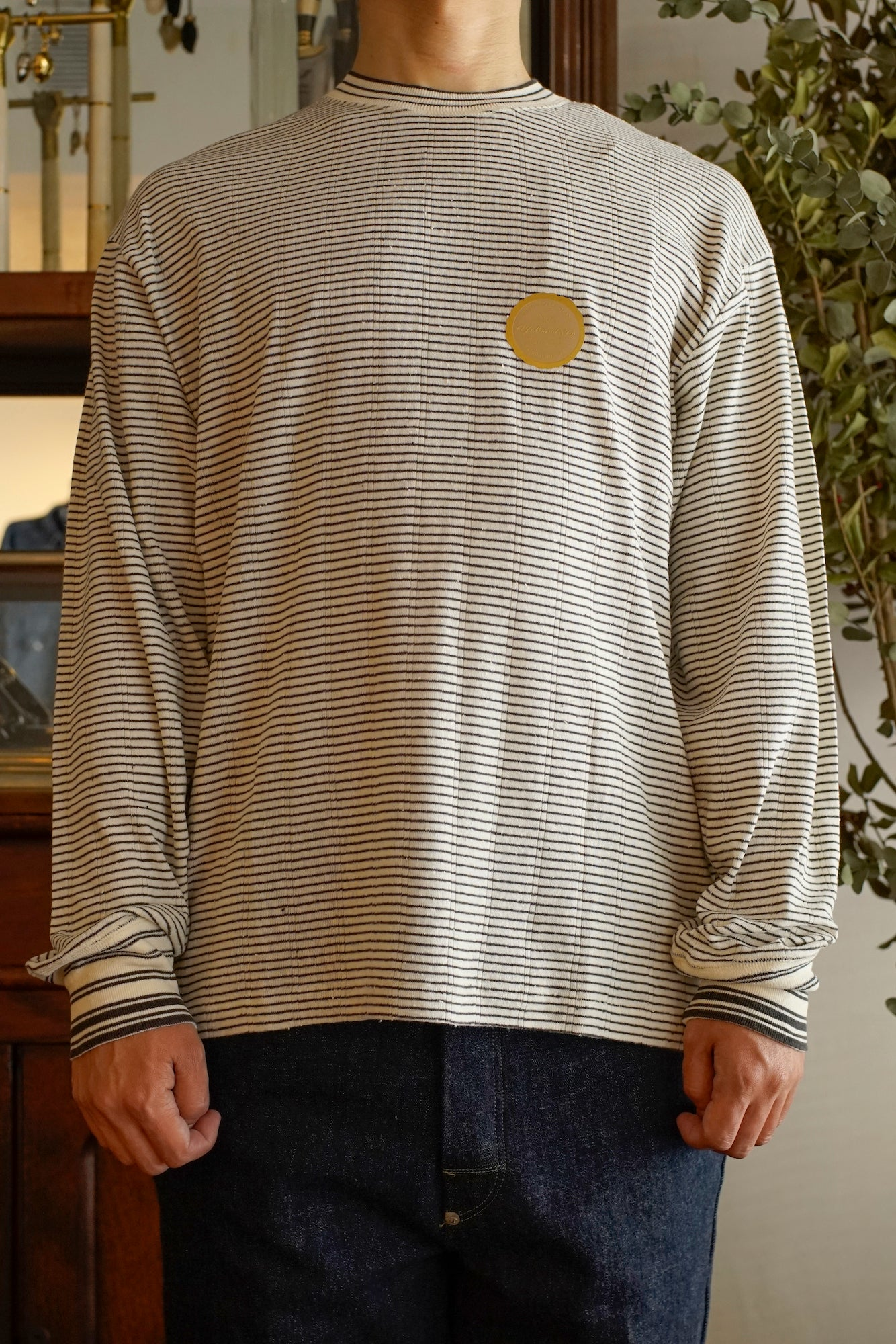 RIBBED CREW NECK SHIRTS - 201OJ-CT01