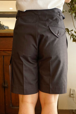 SIDE BUCKLE GRUKHA SHORTS - 201OJ-PT12