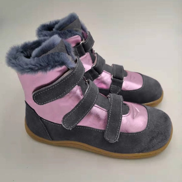 TipsieToes Top Brand Barefoot Genuine Leather Baby Toddler Girl boy  Kids Shoes For Fashion Winter Snow Boots