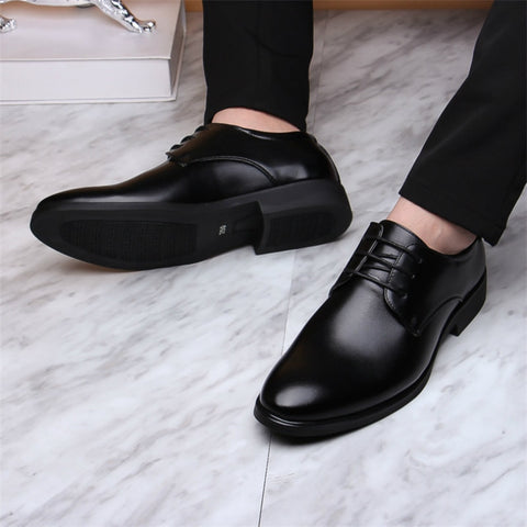 Mazefeng 2019 New Brand Classic Man Pointed Toe Dress Shoes Mens Patent Leather Black Wedding Shoes Oxford Formal Shoes Big Size