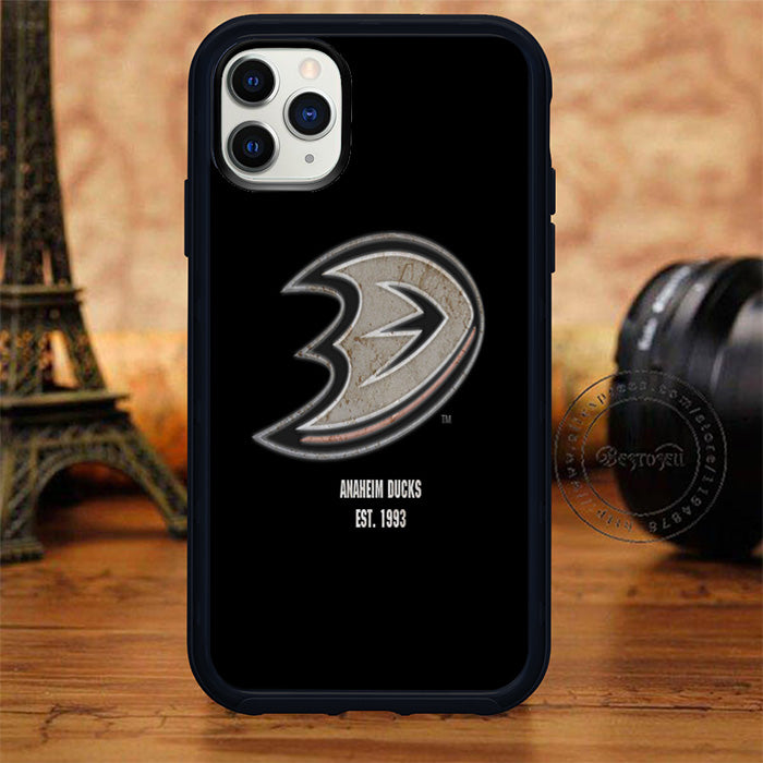 Anaheim Ducks Logo Black Background Iphone 11 Pro 11 Pro Max Case Case Glory