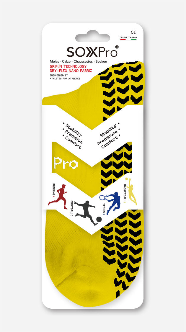 Sox Pro Anti-Slip Yellow