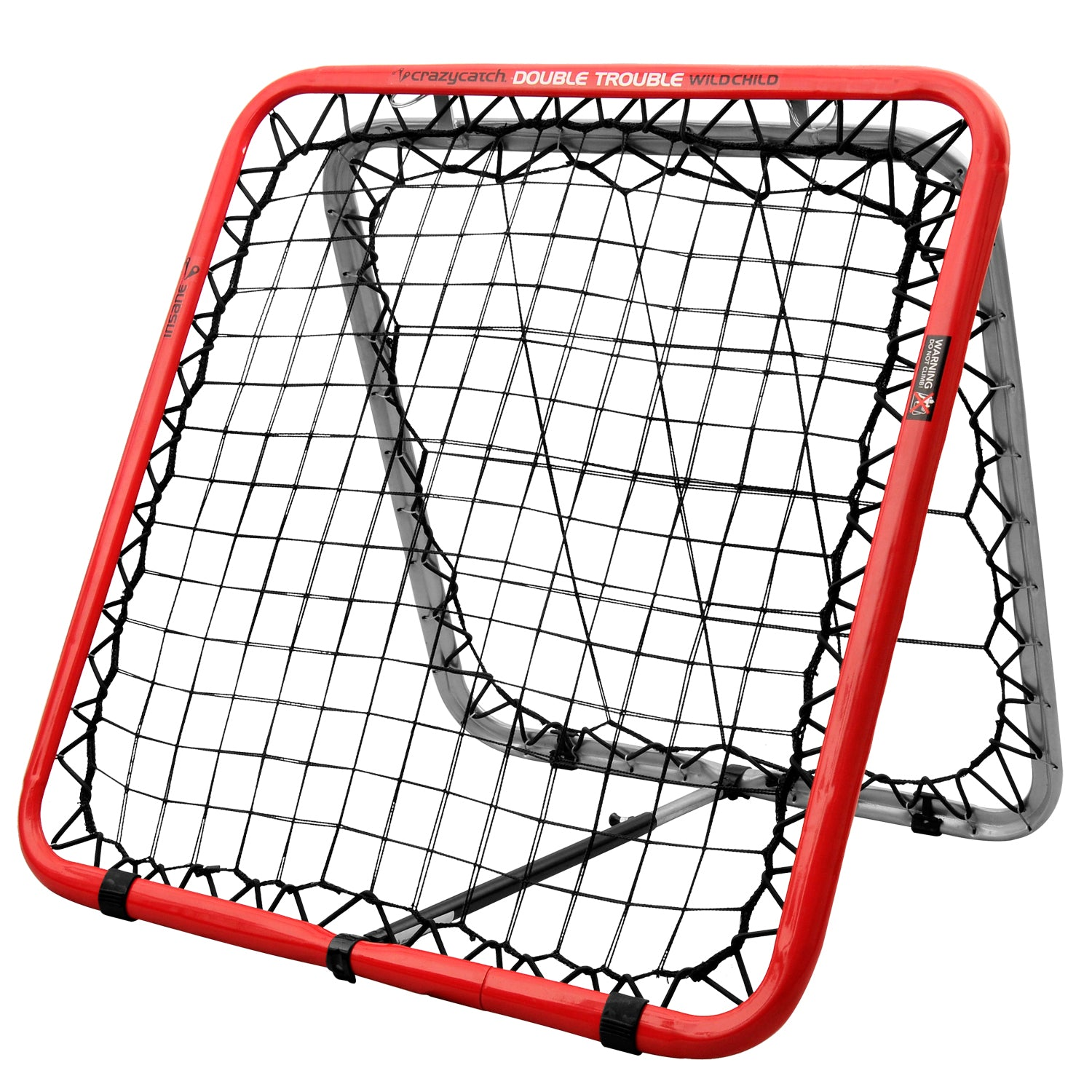 Crazy Catch - Wild Child Double Trouble Sports Rebound Net Great For Soccer Training, Football Training And All Major Sports