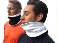 Fleece Neckwarmer (Snood) Reversible Black/White