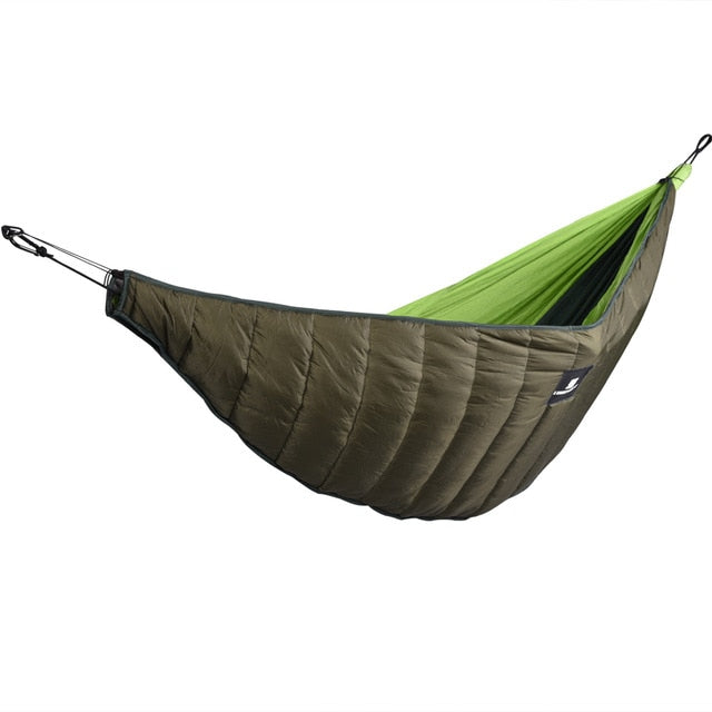 Hammock/Sleeping Bag With Warm Quilted Underside