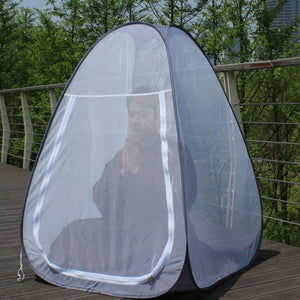Free Standing-Quick Up Meditation Cabana For All Outdoor Use.