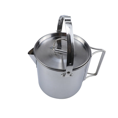Outdoor Stainless Steel Hang-able Water Pot With Lid