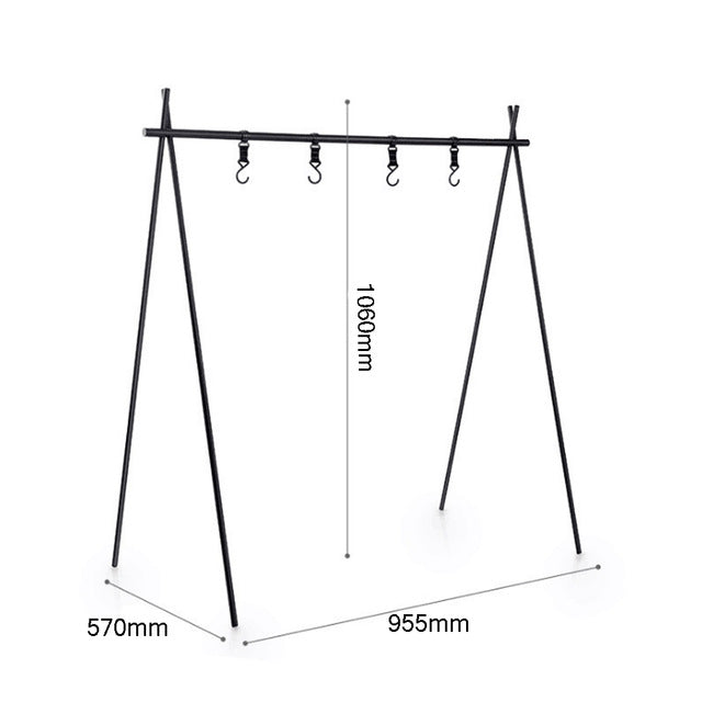 Aluminum Hanging Rack For Pots/Clothes Misc. Items Up 8KG