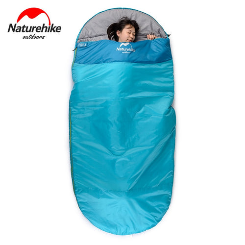 Pancake Style Cotton Sleeping Bag With Built-In Pillow