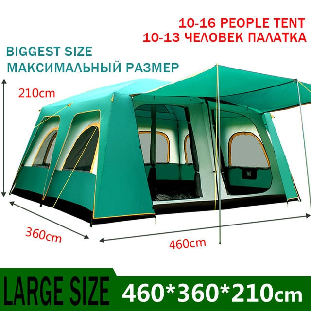 Family Sized  Cabin Tent Fits 10-16 Sleepers