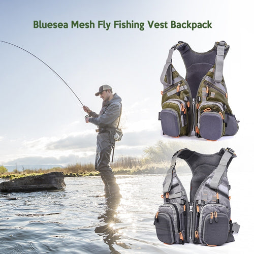 Blusea Breathable Mesh Fishing Vest With Multi Function Pockets