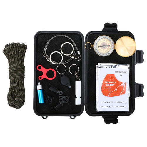 13pc Outdoor Emergency Tool Kit