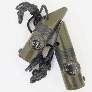 7 In 1 Survival Compass/Whistle/Thermometer And Flashlight