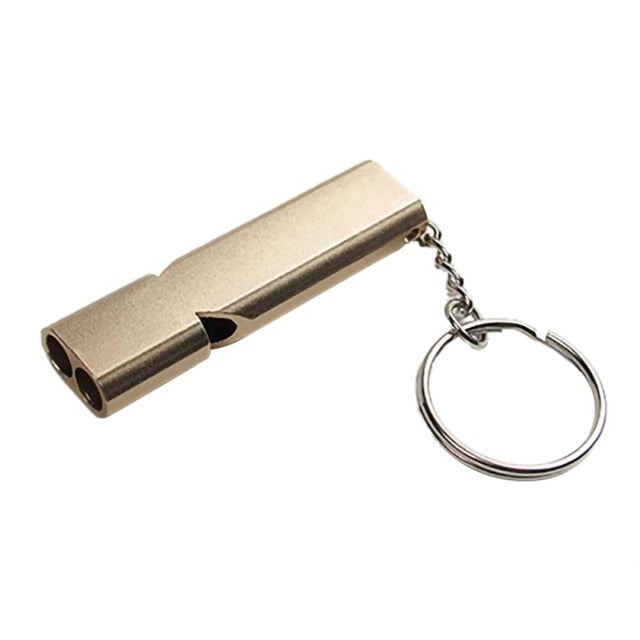 Multi Function Emergency Aluminum High Pitched Key Chain Whistle