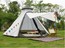 Load image into Gallery viewer, Family-Sized Tepee Style Tent With Additional Sunshade Opening