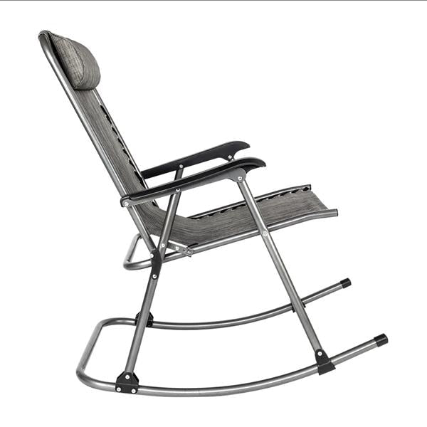 Rocking Chair Leisure Chair for Living Room Gray Perfect for backyard,   easily be carried and stored , outdoor furniture .