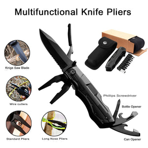 Multi-Tool, With: Can Opener, Knife Blade, Pliers, And More