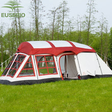 Load image into Gallery viewer, 2-Room Family Sized Tent With 2 Bedrooms Sleeps 8-12