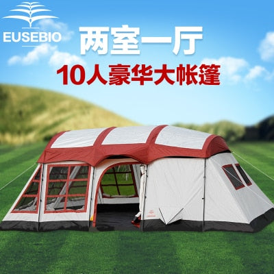 2-Room Family Sized Tent With 2 Bedrooms Sleeps 8-12