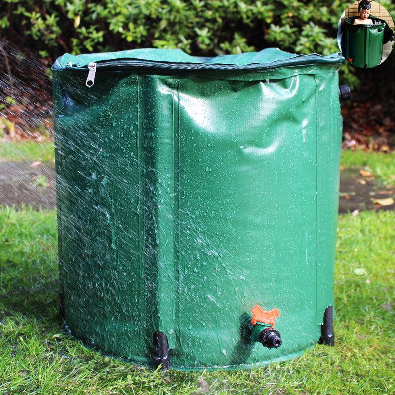 98L PVC Collapsible Rain Barrel With RUNOFF vSLVE