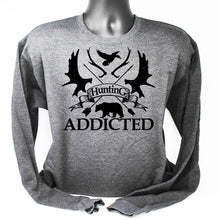 Load image into Gallery viewer, Crewneck Hunting Addicted