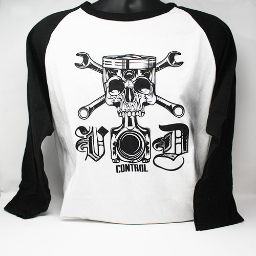 T-SHIRT BASSEBALL SKULL PISTON