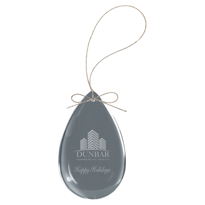 Teardrop Crystal Ornament
