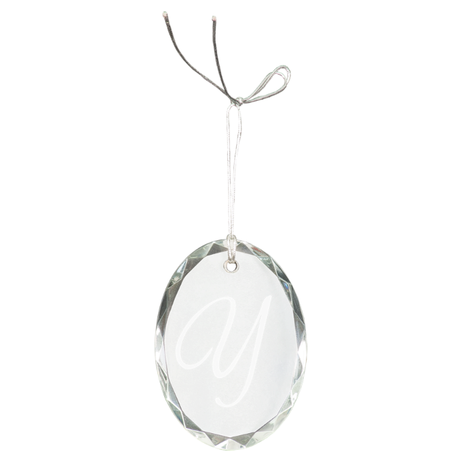 Oval Facet Crystal Ornament