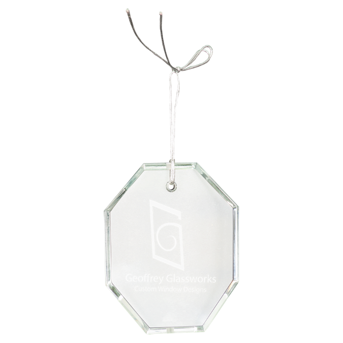 Octagon Crystal Ornament