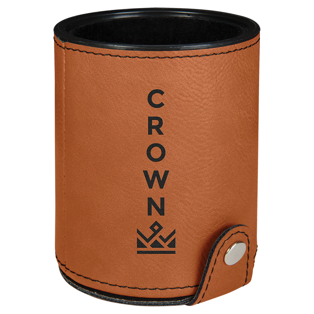 Rawhide Leatherette Dice Cup with 5 Dice