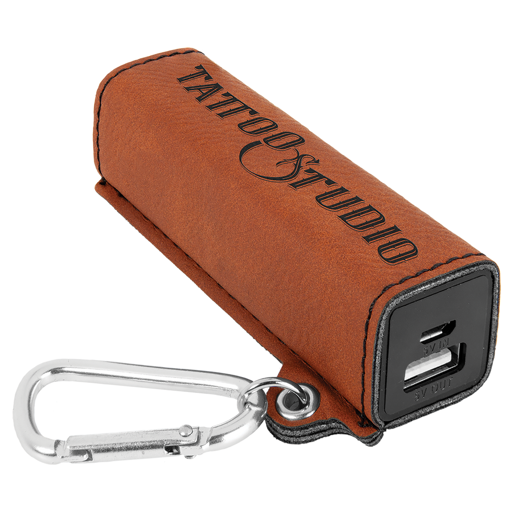 Rawhide Leatherette 200 mAh Power Bank with USB Cord